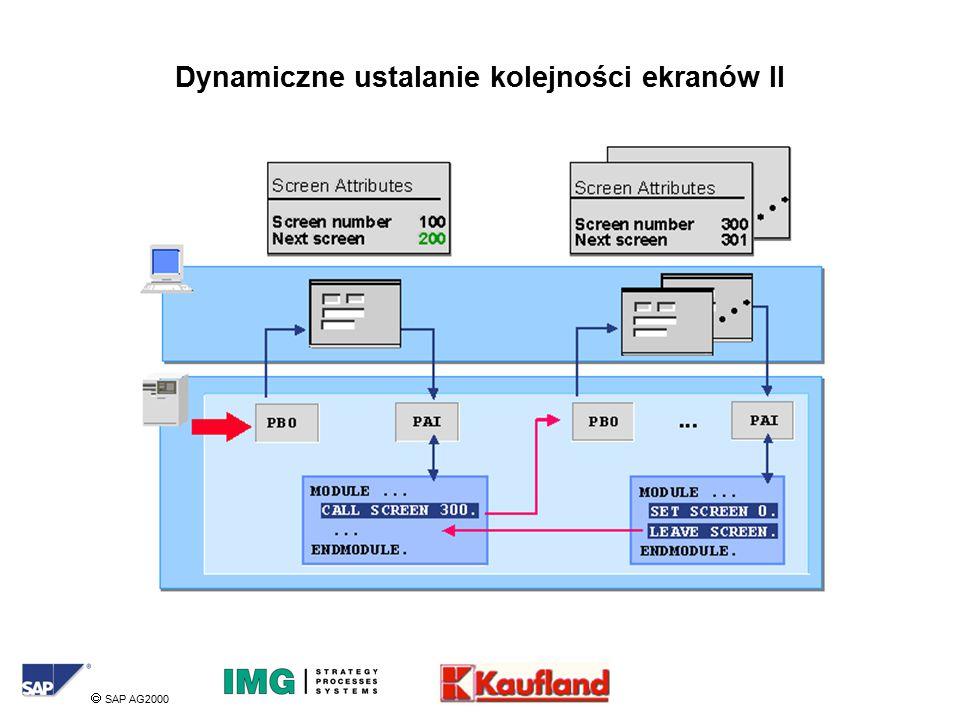  SAP AG2000 Dynamiczne ustalanie kolejności ekranów II