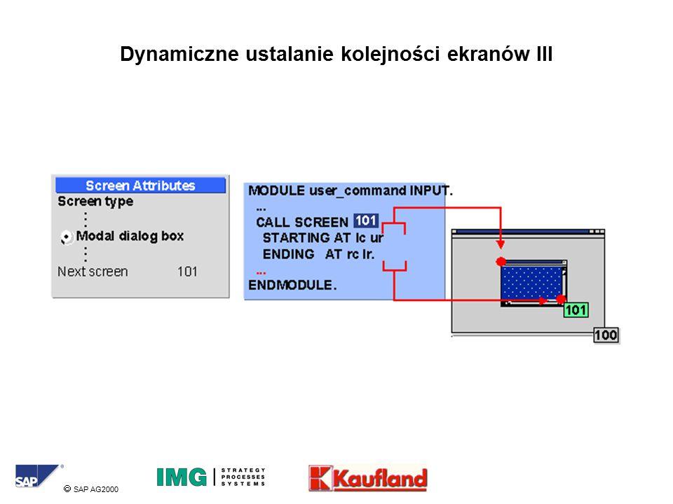  SAP AG2000 Dynamiczne ustalanie kolejności ekranów III