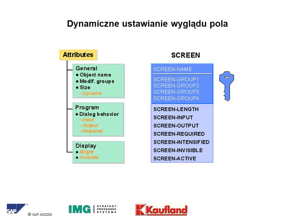  SAP AG2000 Dynamiczne ustawianie wyglądu pola
