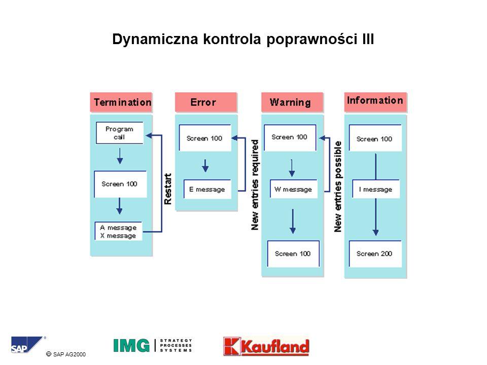  SAP AG2000 Dynamiczna kontrola poprawności III
