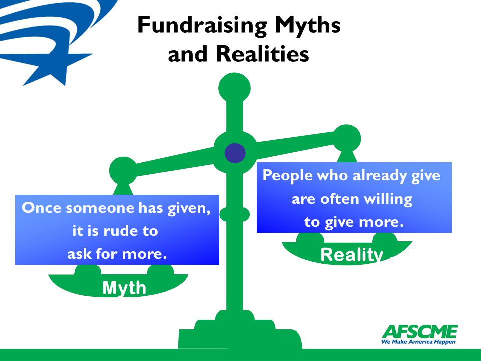 Myth Reality People who already give are often willing to give more.