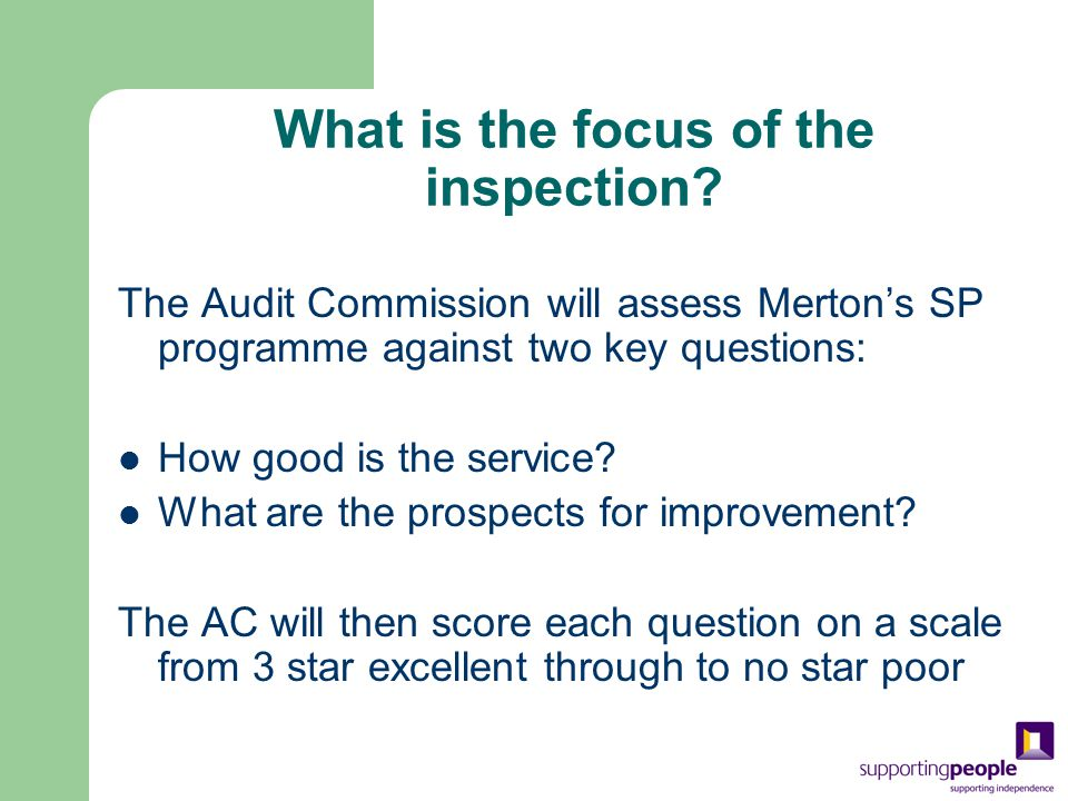 What is the focus of the inspection.