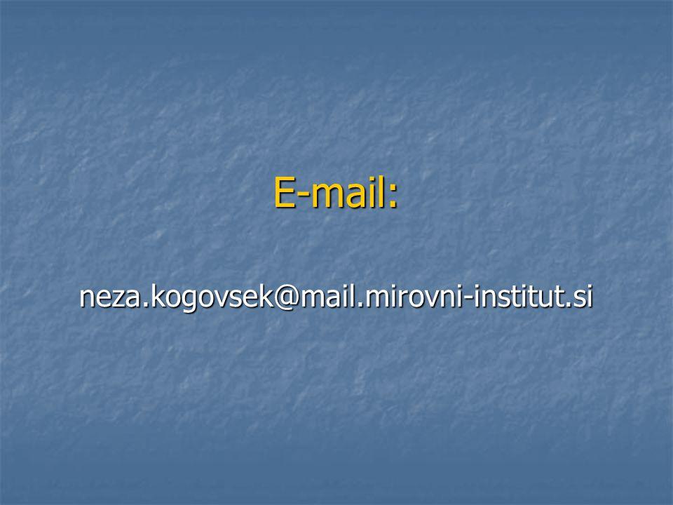 E-mail: neza.kogovsek@mail.mirovni-institut.si