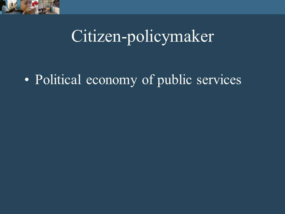 Poor people Policymakers A framework of relationships of accountability Providers