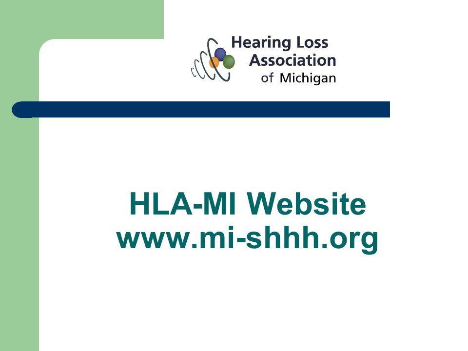 HLA-MI Website www.mi-shhh.org