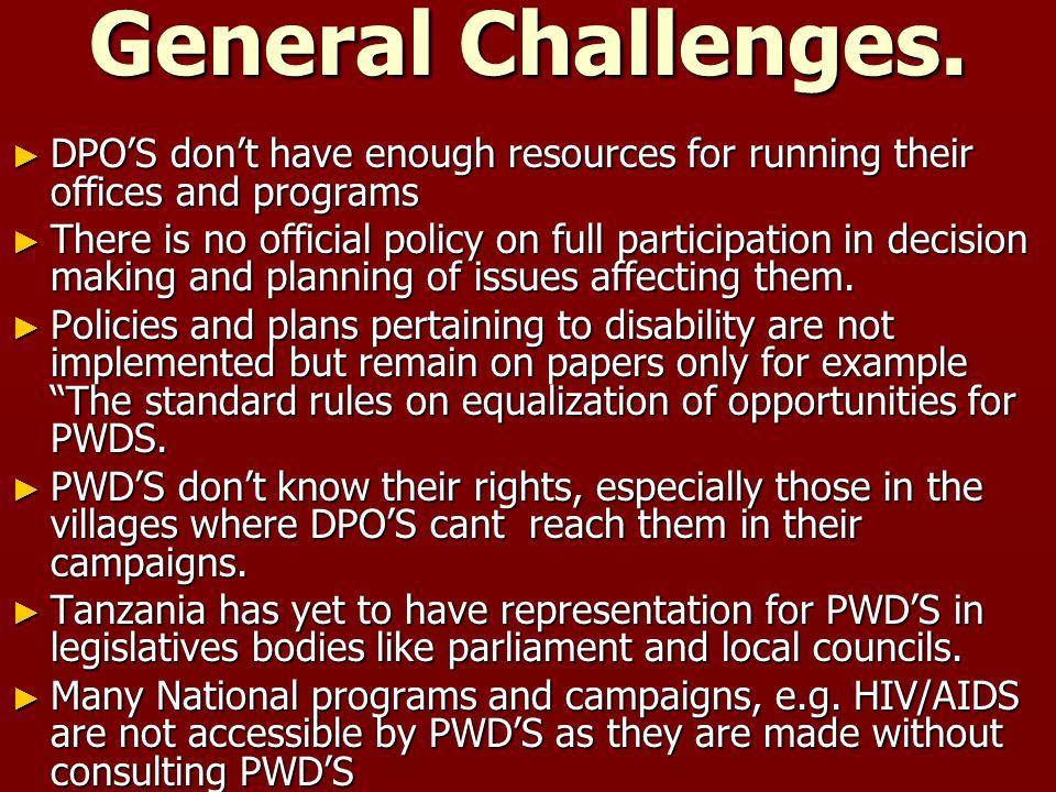General Challenges.