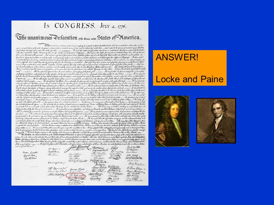 ANSWER! Locke and Paine