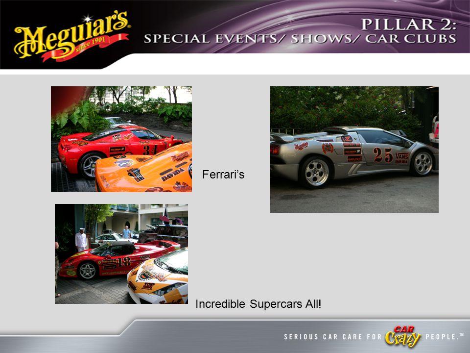 Ferrari's Incredible Supercars All!