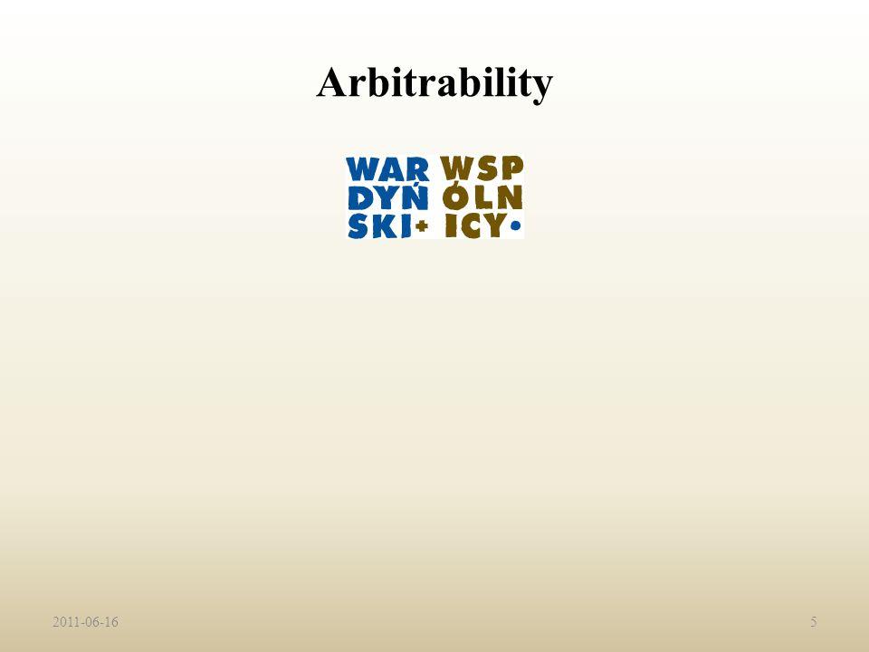 Arbitrability 2011-06-165
