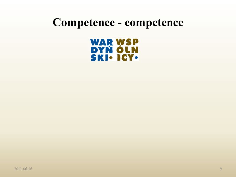 Competence - competence 2011-06-169