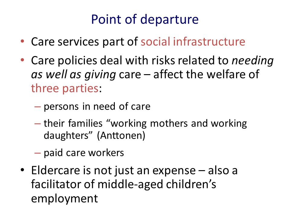 The more resources for long-term care  the more middle-aged women in paid work