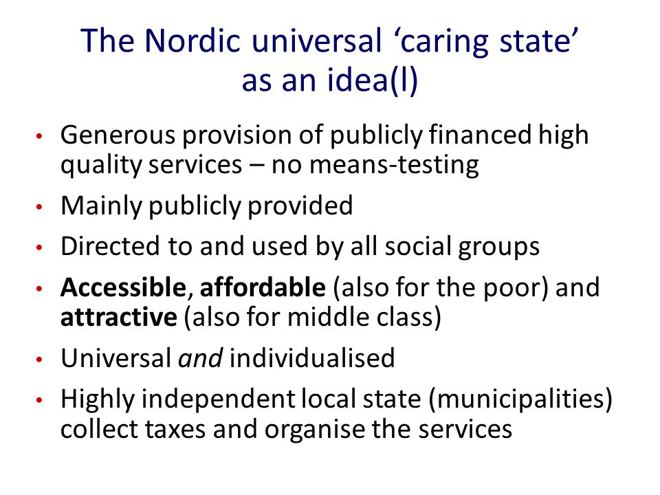The 'ups and downs' of Swedish eldercare Coverage: back to mid 60s – but still more generous than in most countries