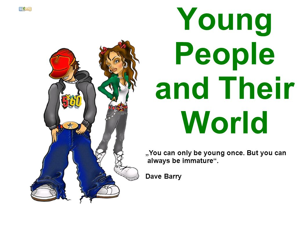 Parents say about children - don´t respect the older generation - think they don´t need any advice - are rude, impolite, badly behaved, use bad words - don´t want to help at home, are interested just in music, fashion, their friends - don´t study a lot, don´t think of their future - spend too much time with their friends - their music is deafening = too loud, their clothes and hairstyle awful -Compare the generation of your parents/ grandparents with yours - lifestyle, opportunities, attention of parents, starting families, employment