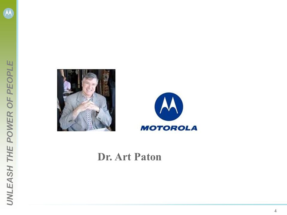 UNLEASH THE POWER OF PEOPLE 4 Dr. Art Paton