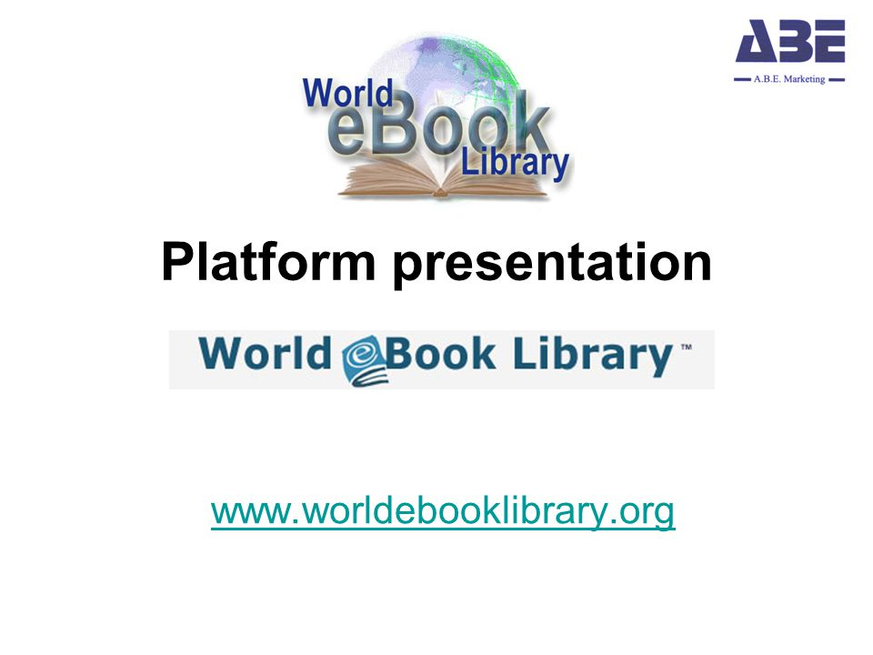 Platform presentation www.worldebooklibrary.org