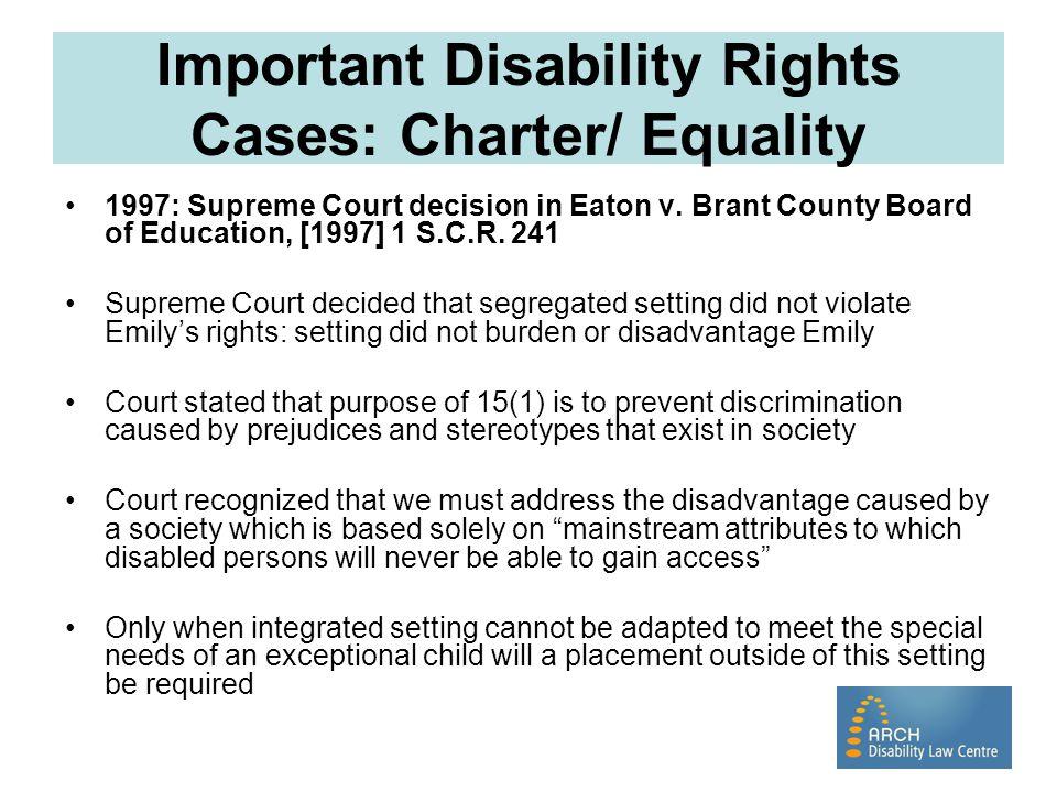 Emily Eaton Despite court decisions, Emily did not accept segregation.