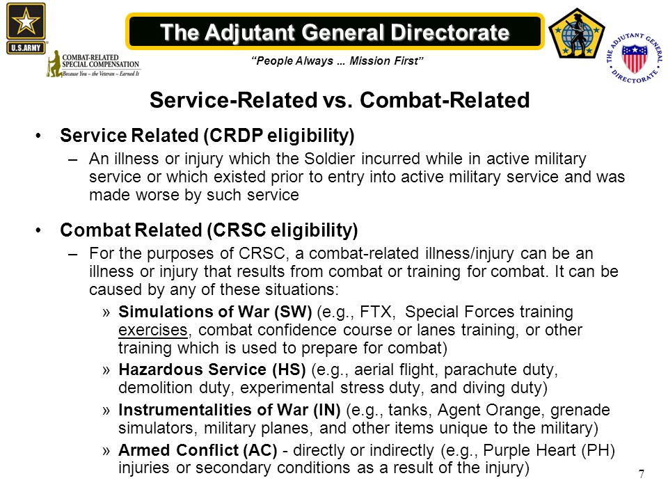 The Adjutant General Directorate People Always...