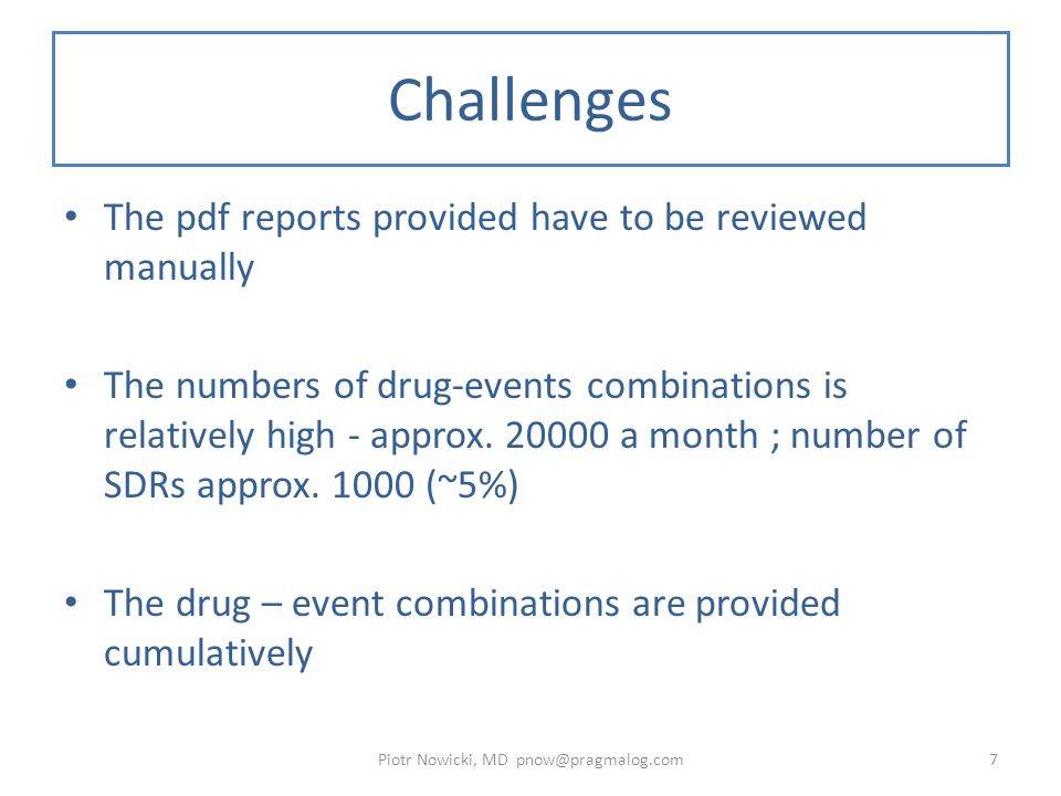 Challenges Cont.Emerging Issues: – How to get more information - case details.