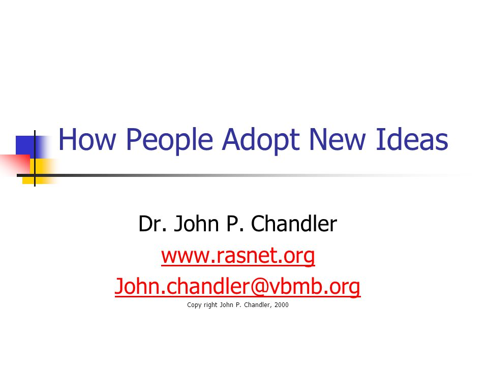 """What do we hope for?"" Members  Objective Innovators  Early Adopters  Middle Adopters  Late Adopters  Involvement Support Acceptance Tolerance"