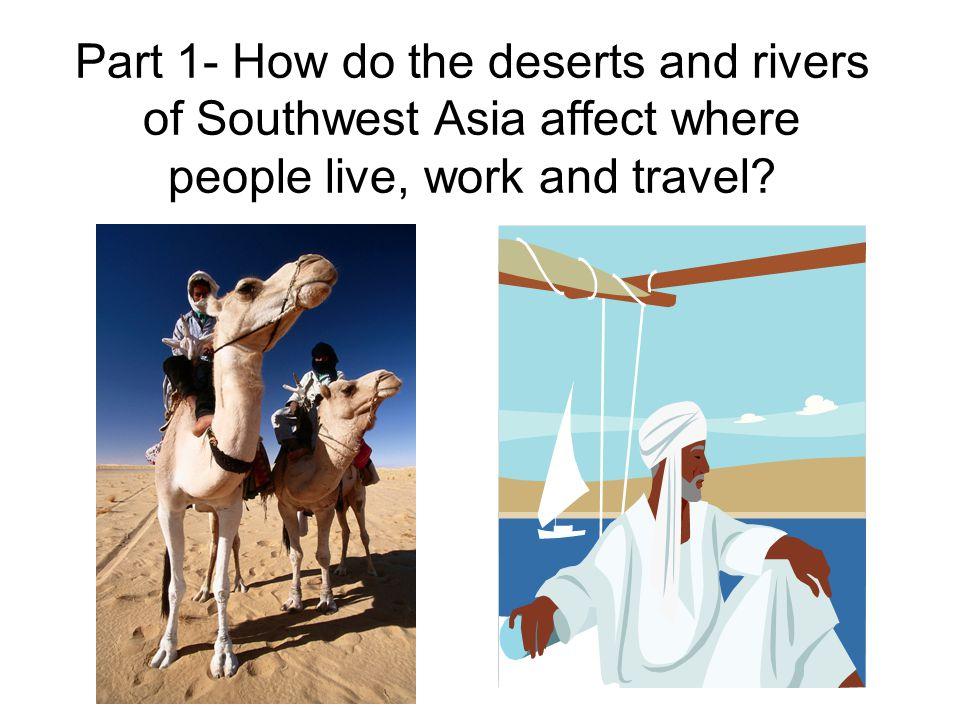 Three Major Rivers: Tigris River Euphrates River Jordan River