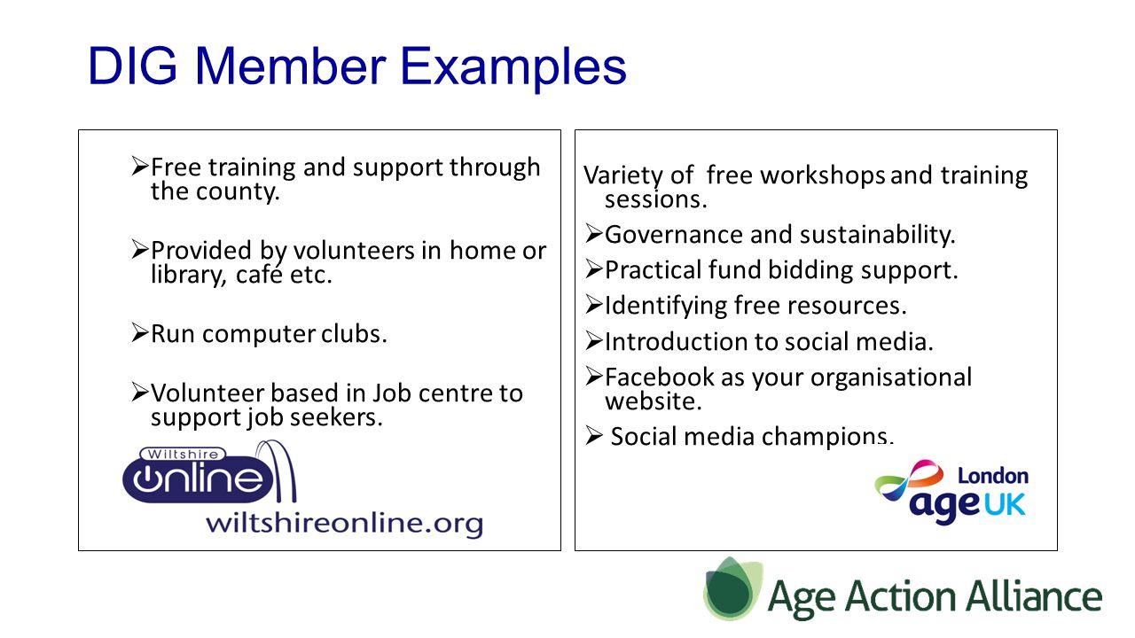 DIG Member Examples  Pannal Village North Yorkshire - Whole village teach digital skills by older people to older people.