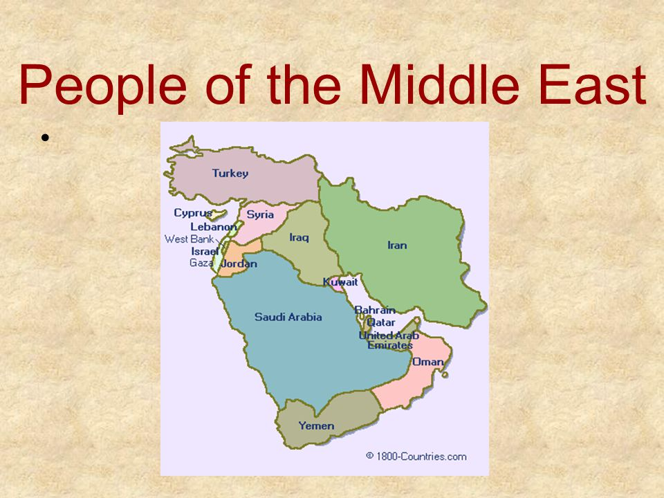 People of the Middle East