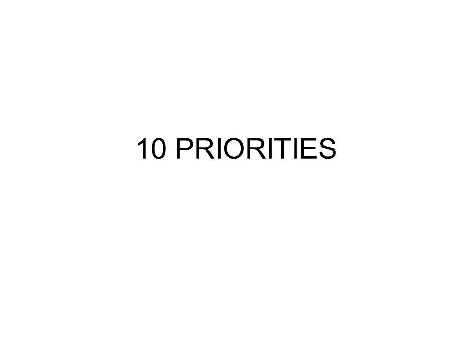10 PRIORITIES