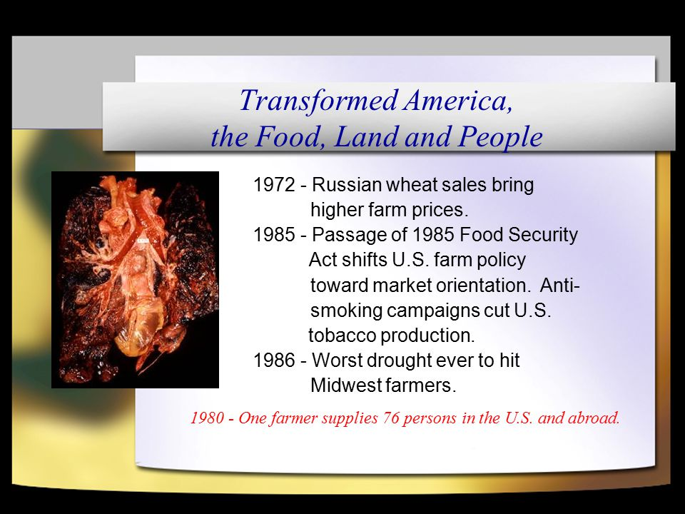 1972 - Russian wheat sales bring higher farm prices.