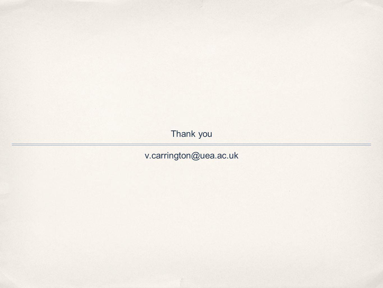 Thank you v.carrington@uea.ac.uk