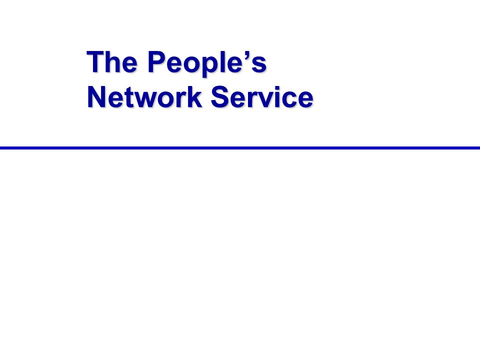 The People's Network Service