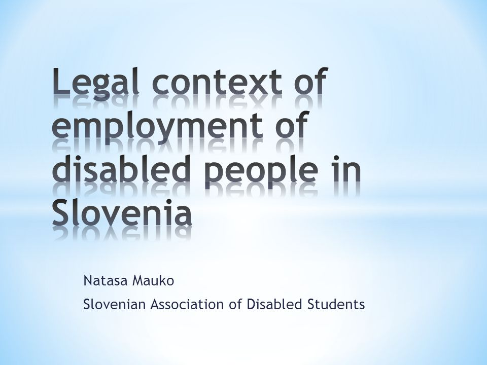 Natasa Mauko Slovenian Association of Disabled Students