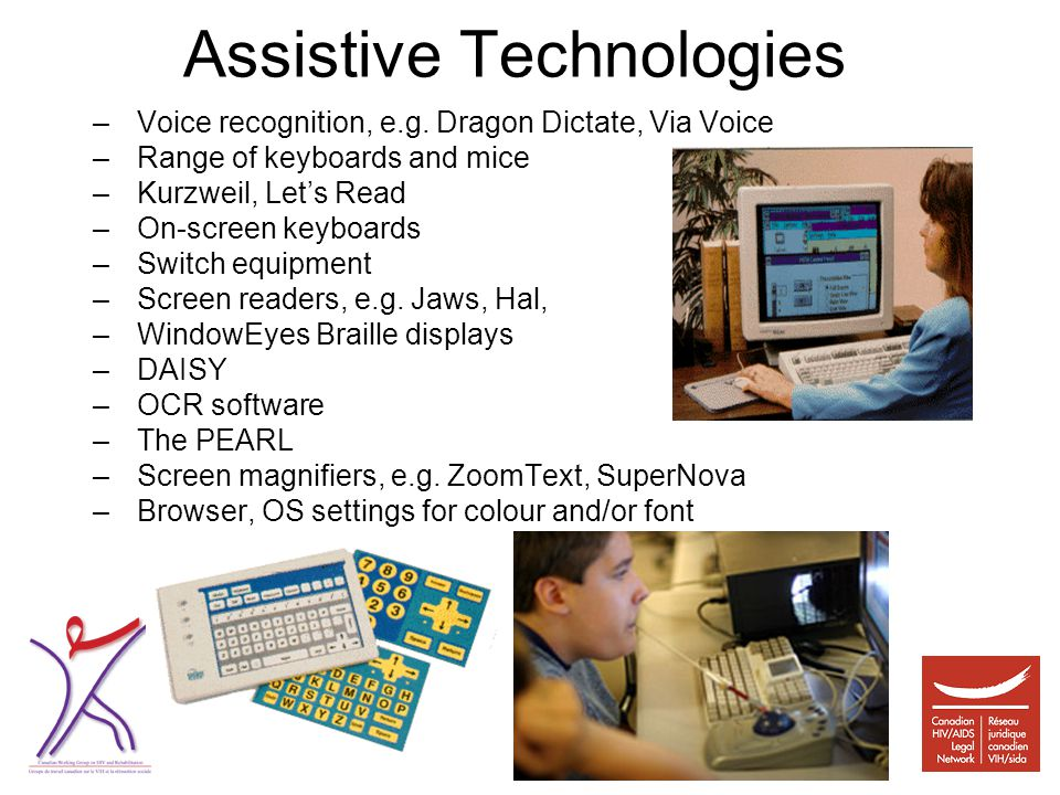 Assistive Technologies –Voice recognition, e.g.