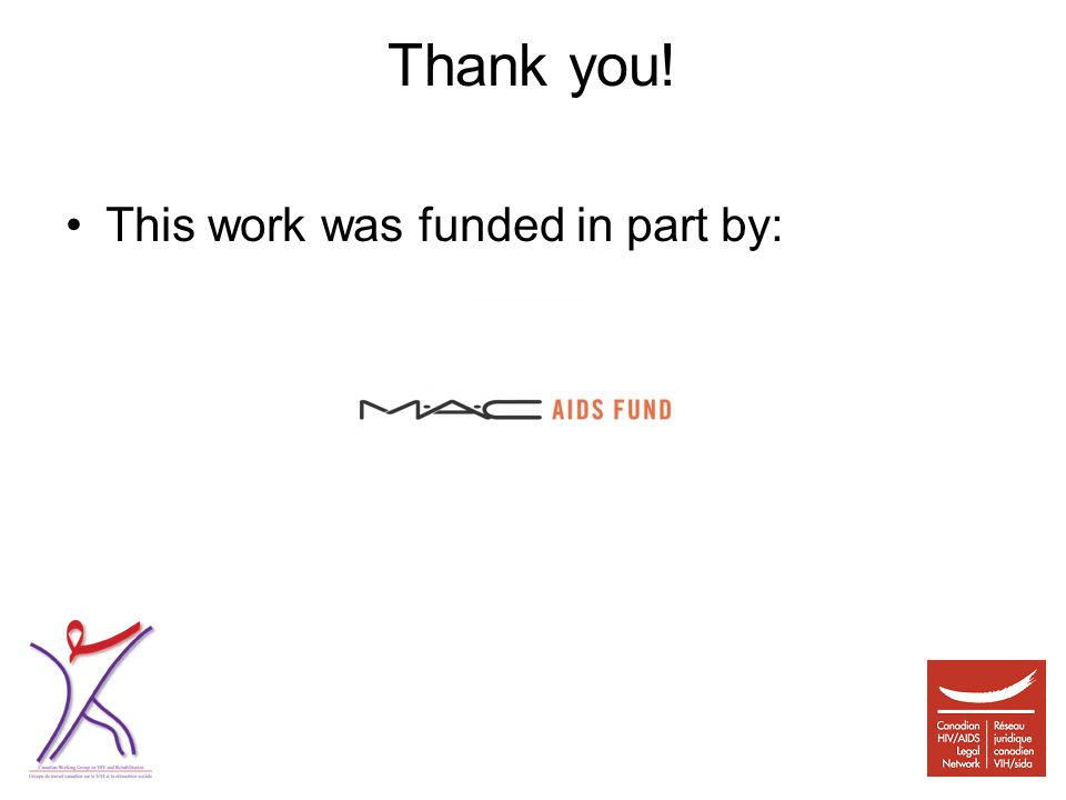 Thank you! This work was funded in part by: