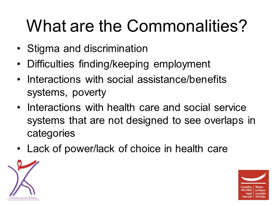 What are the Commonalities.