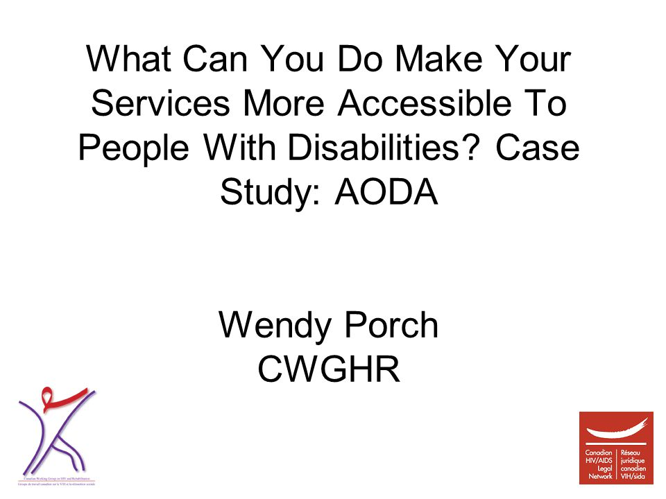 What Can You Do Make Your Services More Accessible To People With Disabilities.