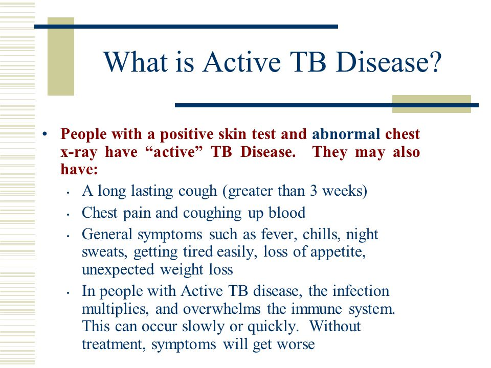 What is Active TB Disease.