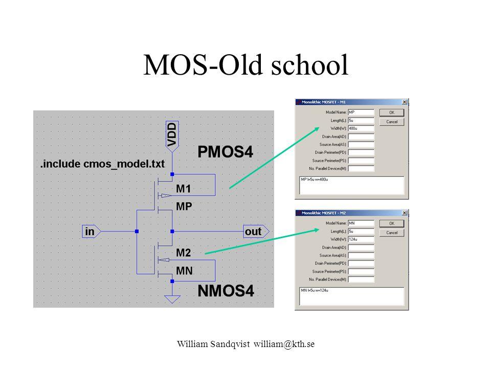 MOS-Old school NMOS4 PMOS4 William Sandqvist william@kth.se