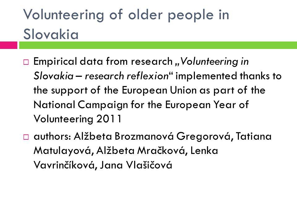 Extent of Formal Volunteering All population over 15Population over 60