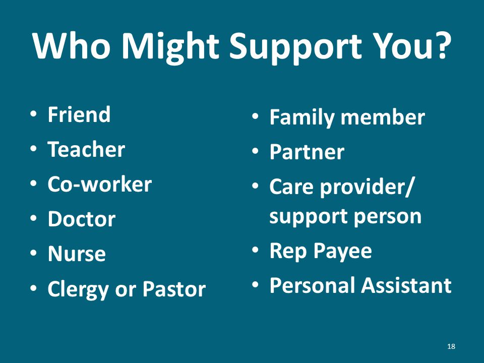 Who Might Support You.