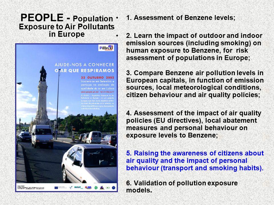 PEOPLE - Population Exposure to Air Pollutants in Europe 1.