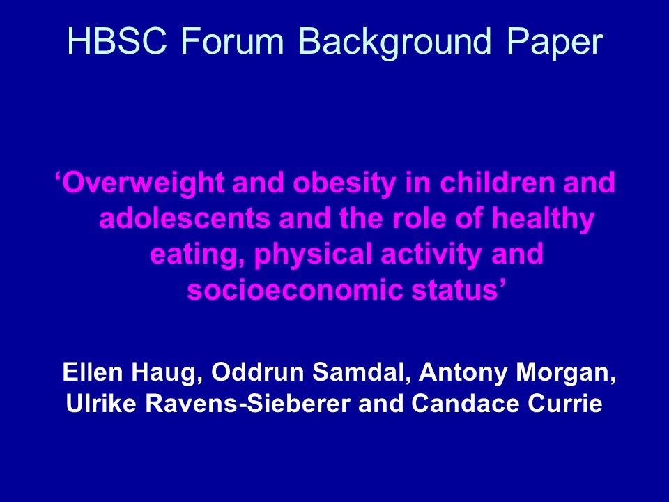 Obesity not the only epidemic 'Epidemic' of reduced opportunities for children and adolescents (especially girls) to be physically active, enjoyably and safely