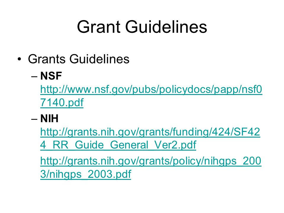 More About the Sponsors GRANTS.GOV WWW.GRANTS.GOV Provides a unified site for interaction between grant applicants and the US Federal agencies that manage grant funds.