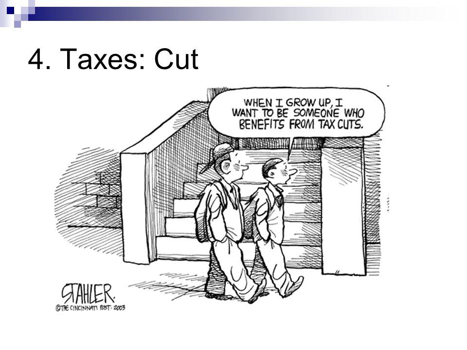 4. Taxes: Cut