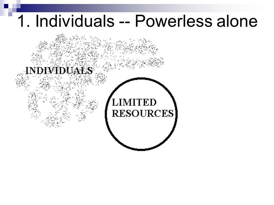 1. Individuals -- Powerless alone