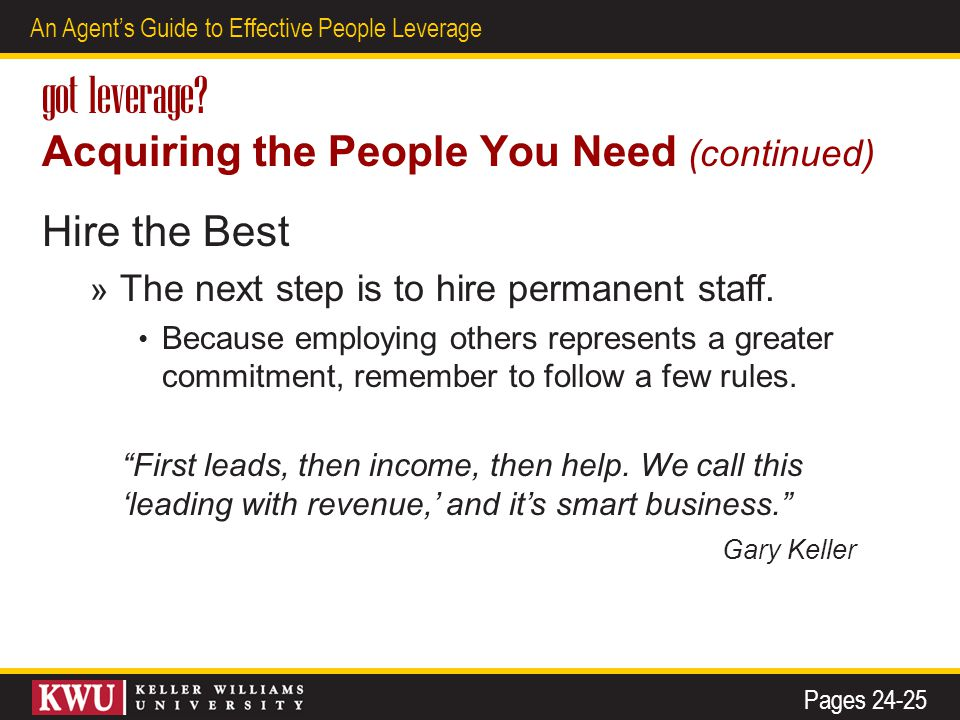 15 An Agent's Guide to Effective People Leverage got leverage.
