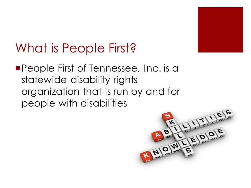 What is People First.  People First of Tennessee, Inc.