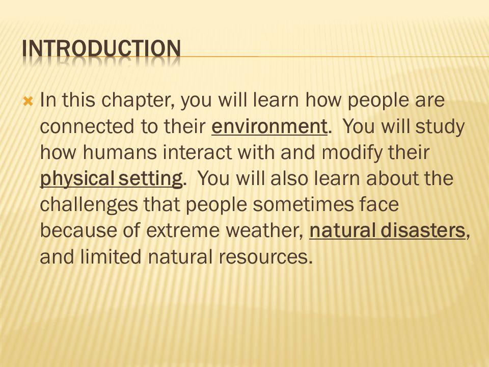  Depletion of Natural Resources.