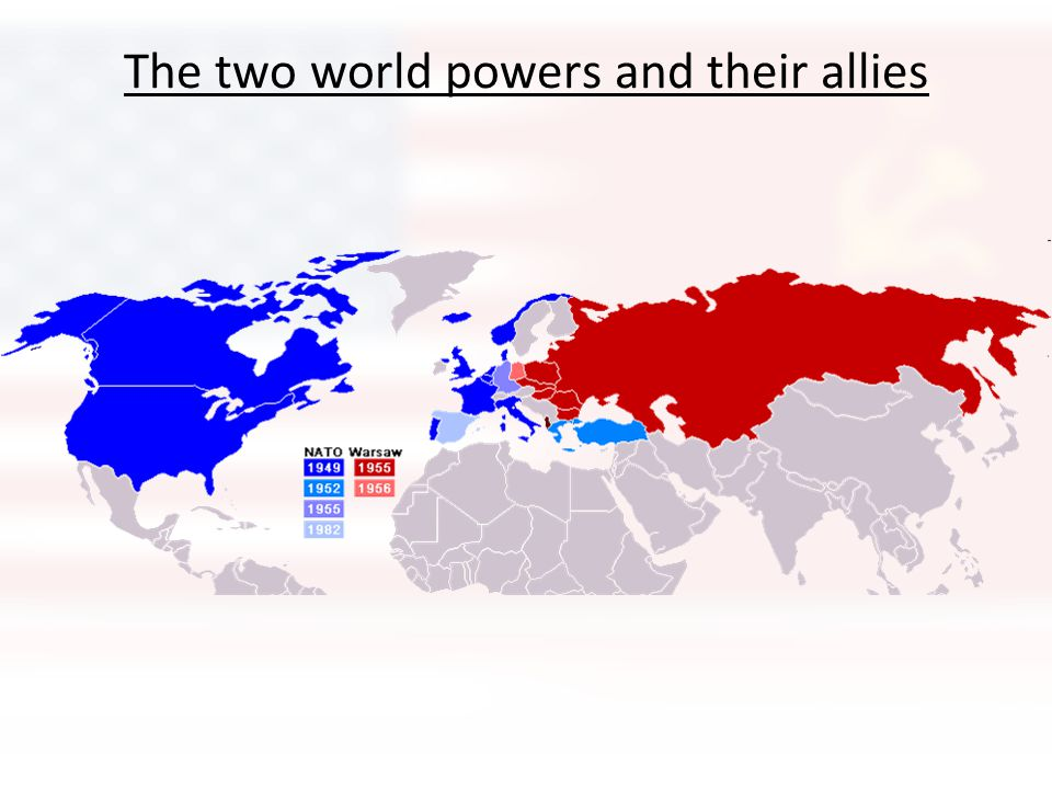 The two world powers and their allies
