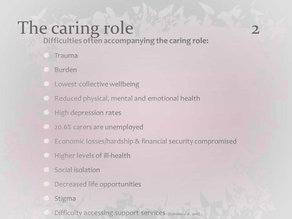 The caring role 3