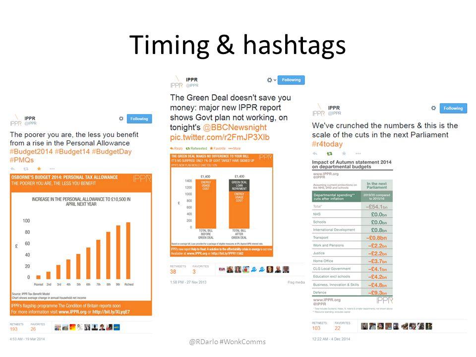 Timing & hashtags @RDarlo #WonkComms